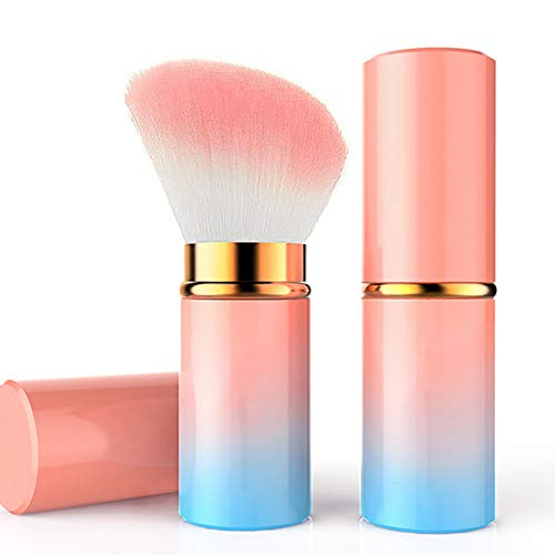 1PC Pennelli Trucco Set Pennelli Make up retrattile Blush polvere di base pennelli cosmetici di trucco strumenti professionali di bellezza di trucco (inclinazione Gradient)