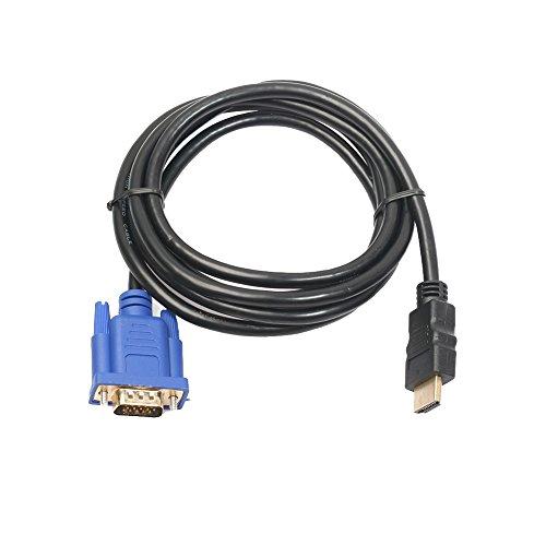 HDMI Gold Stecker auf VGA HD-15 Stecker 15Pin Adapter Konverter Kabel 6FT 1 High-performance-6ft Hdmi-kabel