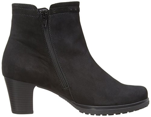 Gabor Shoes Comfort, Stivali bassi Donna Nero (Nabuk nero)