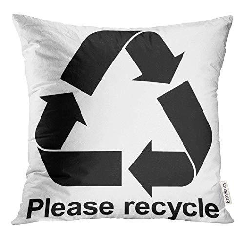 Kinhevao Wurfs-Kissen-grünes Pfeil-Schwarzes bereiten Symbol mit Text Bitte dekorativem Kissen-Ausgangsdekor-Quadrat-BioKissen auf
