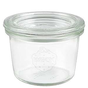 100x WECK-Mini-Sturzglas 80ml mit Deckel