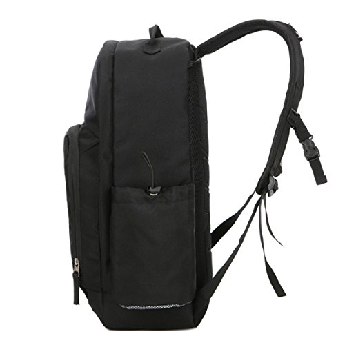 Bulage Borsa Fashion Casual All'aperto Spalle Uomini Pallacanestro Sport Backpacking Viaggi Big Bag Computer Affari Impermeabile Black