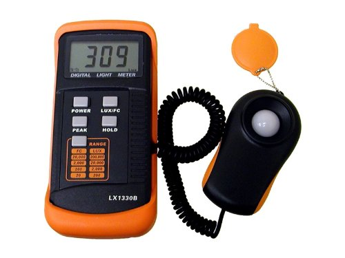 Beleuchtungsmessgerät, Dotormeter Digitale Luxmeter Lichtmessung Photometer 200,000 Lux mit hoher Genauigkeit, Daten halten, LCD Display
