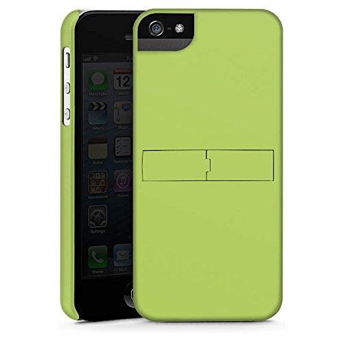 Apple iPhone SE Tasche Hülle Flip Case Lindgrün Frühling Grün Premium Case StandUp