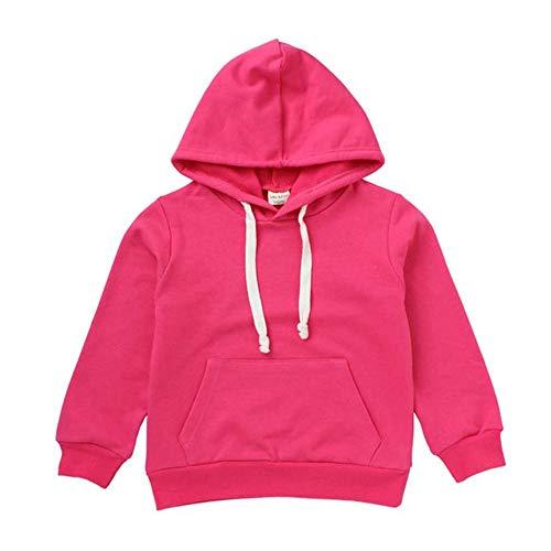 Baby Pullover Jungen mit Kapuzen Herbst Winter Yanhoo Kindermode Einfarbig Sport Sweatshirts Hoodie Langarmshirt Kapuzenpullover Bluse Tops mit Taschen