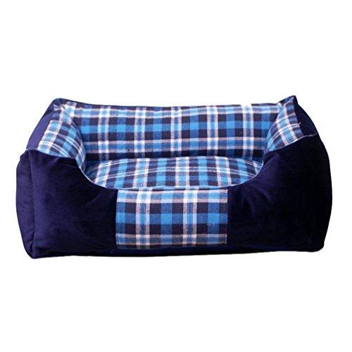 Lvrao cuccia per animali domestici a quadri velluto letto per cani, gatti accogliente cuscino, divani - per tutte le stagioni - (a quadri #3, m: 55*35*18cm)