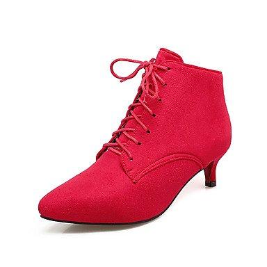 RTRY Scarpe da donna in similpelle di moda invernale Stivali Stivali Bootie Stiletto Heel Punta Babbucce/Stivaletti Glitter spumanti per Party & US5.5 / EU36 / UK3.5 / CN35