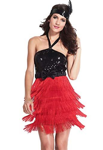 Damen rote schwarz sexy 1920s Jahre Flapper