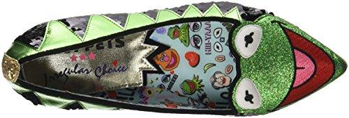 Irregular Choice Kermit The Frog, Scarpe Col Tacco Punta Chiusa Donna Green (Green/Black)