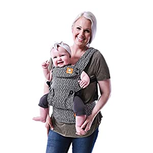 Baby Tula Explore Baby Carrier 3.2 - 20.4 kg, Adjustable Newborn to Toddler Carrier, Multiple Ergonomic Positions, Front and Back Carry, Easy-to-Use, Lightweight - Forever, Black/White Geometric Print   11