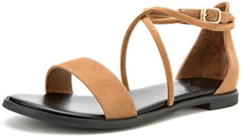 DHG Sandali estivi, Pantofole da donna alla moda, Sandali piatti casual, Sandali con tacco basso a tacco basso... | elegante  | Maschio/Ragazze Scarpa