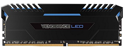 Corsair Vengeance LED Kit di Memoria Illuminato LED Entusiasta 32 GB (4x8 GB), DDR4 3200 MHz, C16 XMP 2.0, Nero con Illuminazione a LED Blu