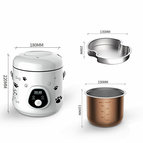MEZ Mini Small Rice Cooker 1 Person -2 People Small Electric Cooker Home 1.6L,White