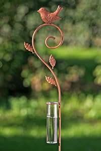 Regenmesser VOGEL Gartenstecker Metall antikbraun 120 cm
