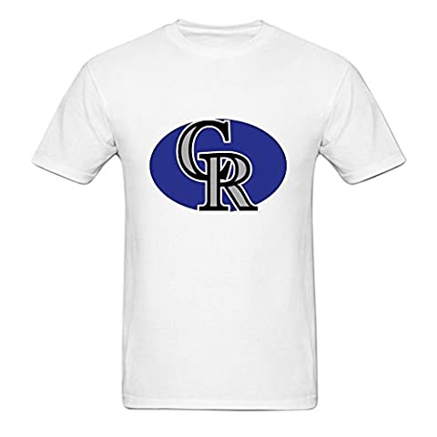 Homme's Colorado Rockies Logo O Neck Short Sleeve Cotton Tee?XXX-Large?