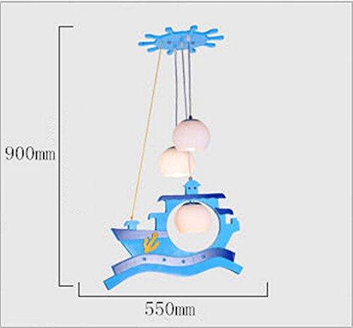 Sky Blue Persönlichkeit Kinderzimmer Leuchten Schlafzimmer Lichter Jungen-Mädchen-Cartoon-Lichter Kronleuchter Kreative Kindliche Lampen - 2