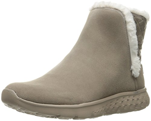 Skechers Damen On The Go 400 Cozies Kurzschaft Stiefel, Beige (TPE), 40 EU (Skechers Leder Fashion Stiefel)