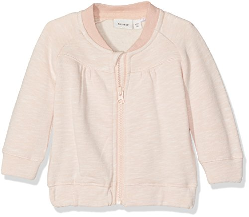 NAME IT Baby-Mädchen Sweatshirt Nitfeanna Swe Card NB, Rosa (Evening Sand), 74