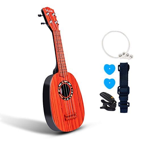 """53,3 cm Gitarre Ukulele Spielzeug für Kinder Think Wing Playstation Kinder Musikinstrumente Bildungs-Spielzeug für Anfänger Starter 21\"""" Round Dark"""
