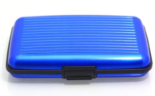 08693a0364 Porta documenti carte di credito rigido in alluminio portafoglio resistente  all'acqua ALUMA WALLET Bleu