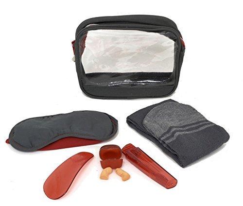 Luft Reisende Set: Socken, Augenmaske, Schuhlöffel, Ohrstöpsel, ZAHN Pinsel und Paste -
