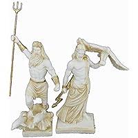 Estia Creations Zeus y Poseidon - Figura Decorativa de la Antigua Estatua Griega de Dioses envejecidos