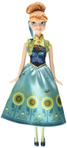 Click for larger image of Disney Frozen Fever Birthday Party Anna Doll