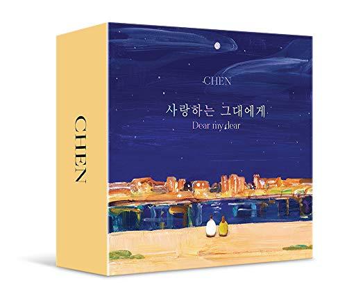 S.M Kihno Album, CHEN EXO - Dear My Dear (2. Mini-Album) KIHNO KIT, 32p Booklet, 1 Fotokarte, gefaltetes Poster und doppelseitiges Extra Fotokartenset