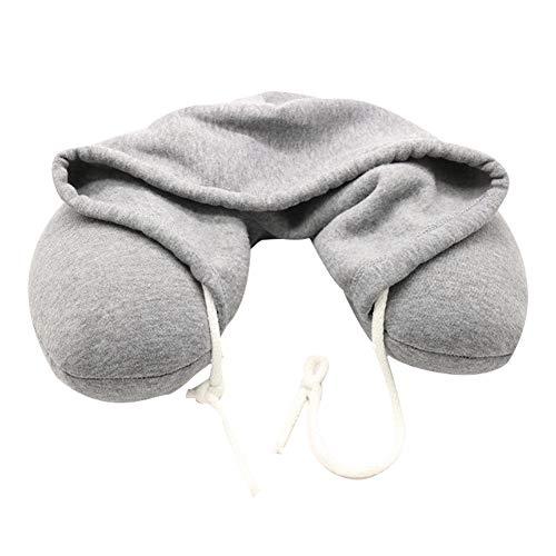 Nackenkissen mit Mütze,Kopfkissen,Reisekissen für Reise Büro und Hause. (Grau) Möbelzubehör Wohnaccessoires