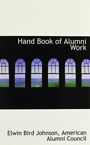Hand Book of Alumni Work
