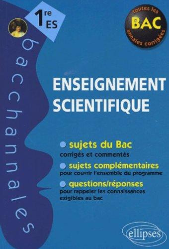 Enseignement scientifique 1re ES