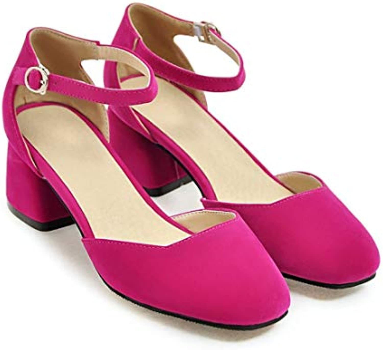 Formulaone Printemps - Été - Mode féminine à à Bout Rond - Chaussures à à Bride de Cheville - Chaussures à Talons...B07KKP62BBParent a543df