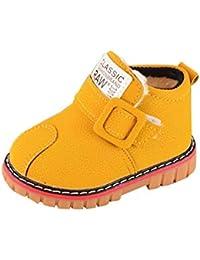 Kinder Winter Warm Schuhe, Kind Mädchen Jungs Sport Turnschuhe draußen Gummi Wasserdicht Retro Schön Klassisch dauerhaft britisch Joggen Rutschfest Leder Schnee Kurz Stiefel