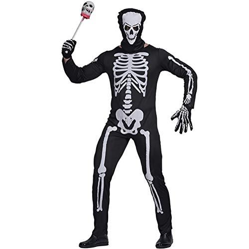 ett Jumpsuit Ghost Devil Kostüm Karnevalsfeier Game Performance Bekleidung Unheimlich Halloween Kostüme,XL ()
