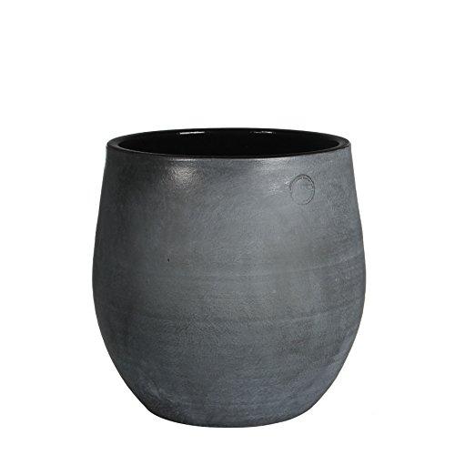 Mica Decorations 143138 Elsie Pot Ronde Anthracite - H30xd29cm