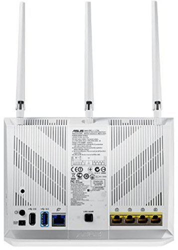 Asus RT - AC68U AC1900 Router  Dual Band Wireless, Gigabit LAN / WAN , USB 3.0 Print Server FTP UPnP VPN , IPv6 , 8x SSID , AiRadar, Bianco