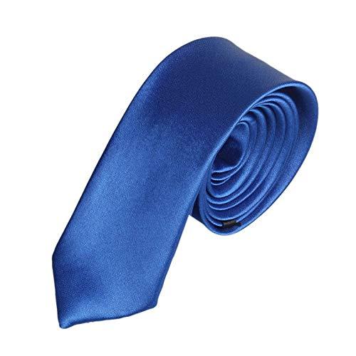 Herren Schwarz Krawatte 5cm,Binggong MännerKlassische Einfarbig Schlips Herrenkrawatte in verschiedenen Farben Slim Tie Retro Business Schlips schmal