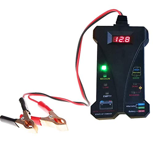 cleanpower 12V Digital auto analizzatore di batteria tester alternatore tester sistema di ricarica strumento diagnostico