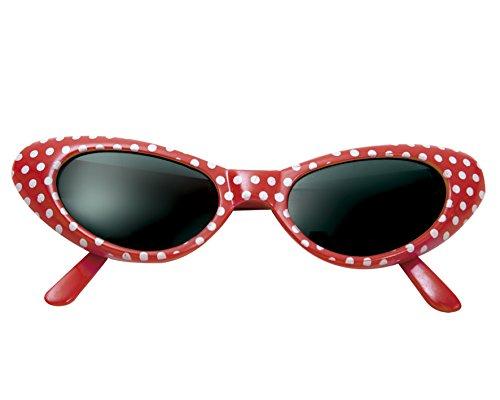 My Other Me Me - Gafas años 50, talla única, color rojo (Viving Costumes MOM01565)