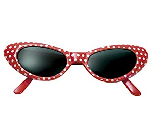My Other Me Me - Gafas años 50, talla única, color rojo (Viving Costumes MOM01565)
