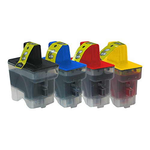 DOREE Brother Ink Cartridges Value Pack 4-Pack Cyan / Yellow / Magenta / Black for LC900 (4k Magenta Toner)