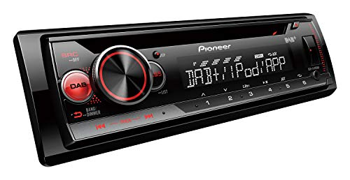 Pioneer DEH-S410DAB | 1DIN Autoradio | CD-Tuner mit DAB+ und RDS | MP3 | USB und AUX-Eingang | iPhone-Steuerung | ARC App | 5-Band Equalizer | RGB-Beleuchtung (Pioneer 1-din Autoradio)