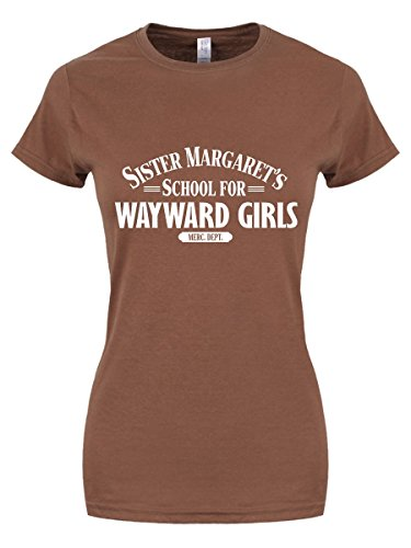 T-shirt Sister Margaret's School For Wayward Girls da donna in marrone