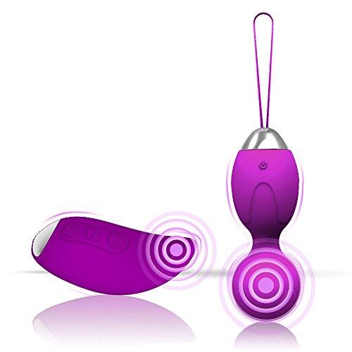 Cksohot Bolas Chinas con Control Remoto Inalámbrico Kegel Bolas con 10 Frecuencias -Púrpura