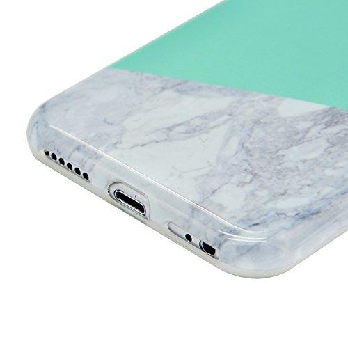 Coque iPhone 6s iPhone 6 Souple Motif Marbre Grain, Sunroyal® Etui Housse en TPU Silicone Soft Case Arrière avec Marble Effect Naturel Back Cover Ultra Slim Shell de Protection Anti-Choc Bumper pour i Marbre 11