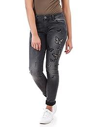 La Modeuse - Jeans coupe slim effet délavé