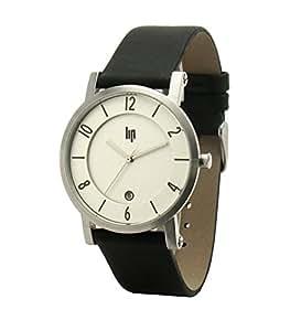 Lip Style - 10211822 - Montre Homme - Quartz Analogique - Cadran Blanc - Bracelet Cuir Noir
