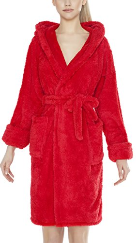Lady-Mode Bademantel mit Kapuze Mia Kurz (XS – 2XL) Rot
