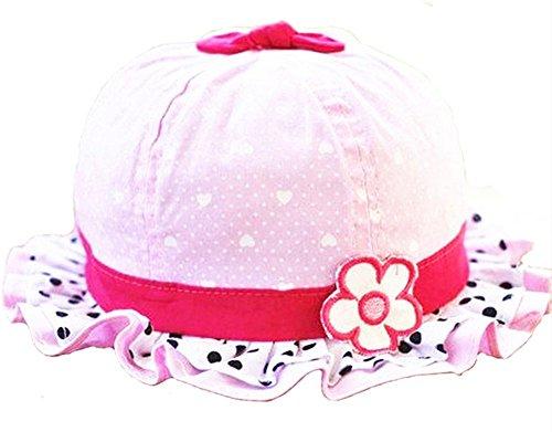 westeng 1pieza cómodo Sweet Cute bebé niñas bebé niños verano sol lunares verano sombreros gorras Ruffle Flores sol sombreros tapas rosa rosa Talla única