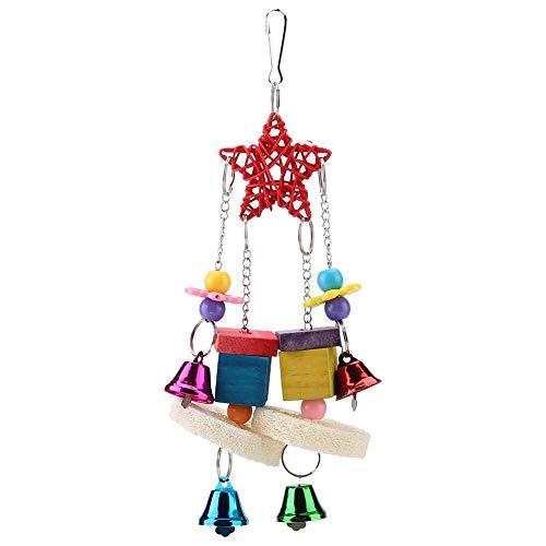 Naroote Papagei hängen Spielen Spielzeug, Holzständer Schaukel Spielzeug für Vögel Spielen Biss Klettern Pet Supplies Bridge